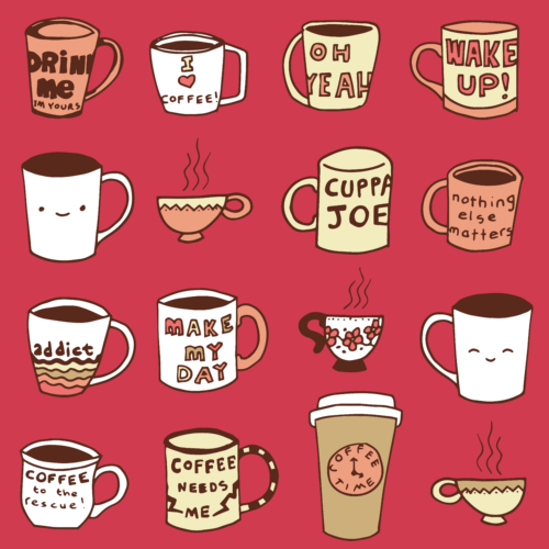 coffee time mugs graphic design