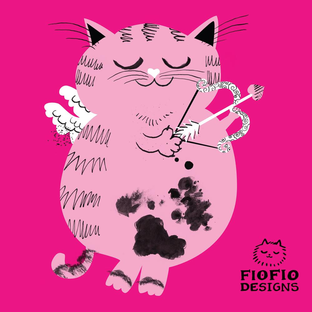 Valentine's Inky Cat